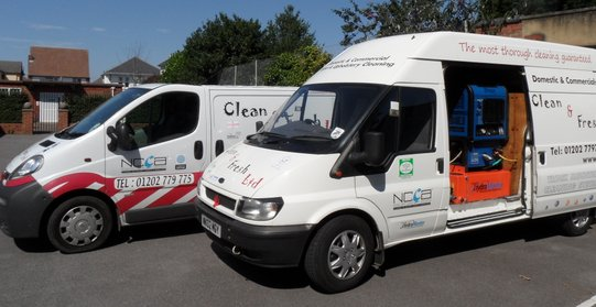 Our two cleaning vans